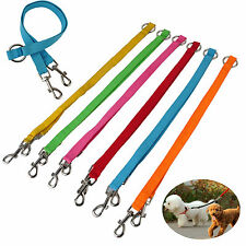 Colorful Double Dog Lead Coupler Dog Two Pet Dogs Walking Duplex Leash Splitter