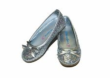 SILVER GLITTER BALLET FLATS TODDLER & LITTLE GIRL'S ELSA & FROZEN