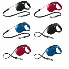 New Flexi Classic Cord & Tape Retractable Dog Leads 12 to 35kgs 5 to 8 metres