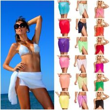 COQUETA Sexy Pareo Chiffon Wrap Sarong Beach Bikini Swimwear Cover Up Ladies