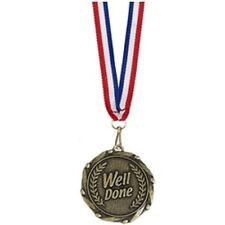 Well Done Medals & Ribbons AM906G - Engraved with your message - Free P+P