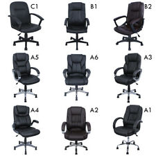 High Back PU Leather Executive Ergonomic Office Chair Desk Task Computer Black