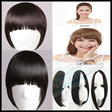 Premium Pretty Girls Clip In Front Bang long Side Bangs Fringe Hair Extensions