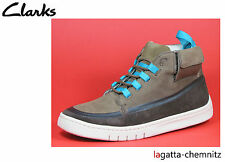 CLARKS TUMBLER TRAIL Brown/Nubuck Men's Sneakers high Laces Leather Brown New