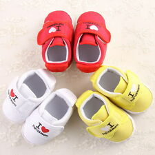 LOVE PAPA&MAMA Newborn Baby Soft Crib Shoes Girls Boys Infant Toddler Velcro #BS