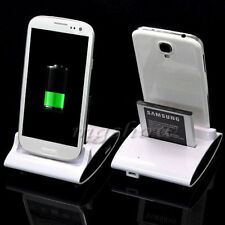USB Dual Battery Charger Charging Dock Cradle Stand for Samsung Galaxy S4/S3