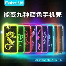 Fashion Cartoon LED Sense Flash Light Up Soft Rubber Case For iPhone 6 6S Plus