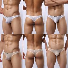 Men's Underwear See-through Lace Thong Sexy Excitation Salient Pouch T-back