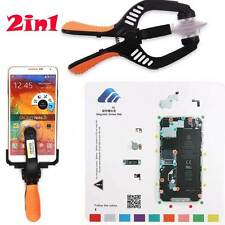 Magnetic Screw Mat + LCD Screen Cell Phone Plier Opening Repair Tools For iPhone