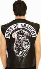 Sons Of Anarchy New Authentic Leather Vest Nwt official licensed all sz s to 4xl