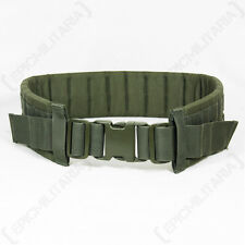 Tactical MOLLE PADDED MODULAR BELT Olive Green Airsoft Webbing Rig - All Sizes
