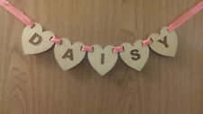 Personalised Wooden Heart Shaped Bunting - Add that unique touch to any room