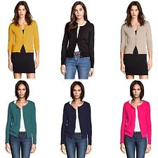 LADIES EX H&M FINE KNIT CARDIGAN WOMENS ROUND NECK LONG SLEEVE TOP UK SIZE 6-22