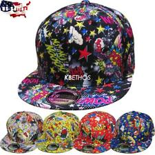 Fashion Comic Print Hiphop Cap Snapback Baseball Cap Adjustable Hat Unisex