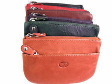 Ladies High Quality Genuine Leather Coin Purse Card Holder Key Ring Wallet Pouch