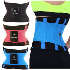 Waist Cincher Trainer Body Tummy Girdle Control Corset Black Sport Shaper