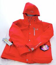 Under Armour ColdGear Infrared Porter 3-in-1 Jacket Red w/ Fleece Lining NWT