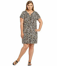 Calvin Klein Plus Size Animal Print Shift Dress  Save $65!!  2X  XXL 2XL Leopard