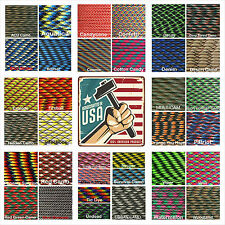 Paracord Type III 7 strand 550 parachute cord Camo Color Favorites 1 - 1000 ft