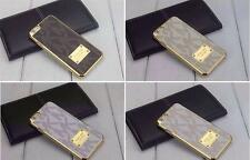 BNWT Michael Kors iphone 6 Size 4.7 Leather & Gold Stunning Luxury Case Cover