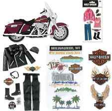 HARLEY DAVIDSON MOTORCYCLE Road King 3D Stickers Leather Jacket Pants Boots Hat
