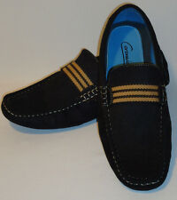 Mens MOC-1 Black Slip On Mocs Driving Shoes Loafers  with Cool Texture