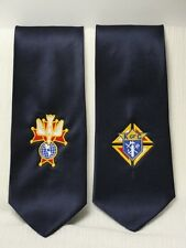 Knights of Columbus Embroidered 3rd or 4th Degree Navy Blue Necktie Tie