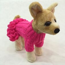 Handmade Knit Clothes Sweater Dress and Hat for Dogs / Pets XXS, XS, S, M