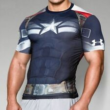 Under Armour Alter Ego Compression Shirt Captain America Winter Soldier NEW