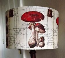 French Toadstool Mushroom lampshade Vintage Script Postcard shabby chic Kitchen