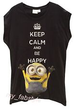 Primark MINION BONKERS ABOUT BANANA'S ladies Top t shirt   UK 6-20