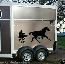 Racing Horse Stickers / TWO Horse stickers / Horse Trailer Stickers / N114
