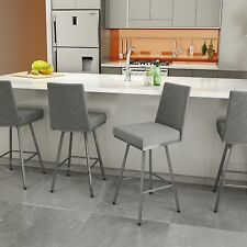 Amisco Linea Swivel Upholstered Counter or Bar Stool - 41320