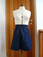INTERNACIONALE DARK RAW INDIGO BLUE DENIM SKATER MINI SKIRT 8 10 12 14 16 BNWT