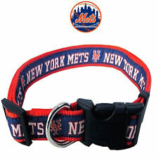 MLB Fan Gear NEW YORK METS Nylon Collar for Dog Dogs Puppy Puppies