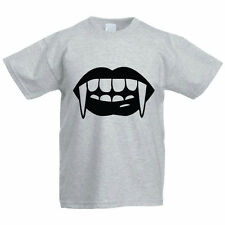 SCARY FANGS - Halloween / Dracula / Teeth / Funny Children's Themed T-Shirt