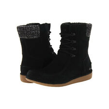 Women Boots Lacoste Alyson SRW Black Suede Ankle High Winter Boots NEW
