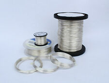 SILVER PLATED COPPER WIRE 0.4mm - 1.5mm NON TARNISHING HIGHEST QUALITY