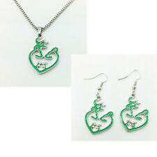 2015 new 1 set of Browning Deer Necklace & earrings Fashion Jewelry  gift #5