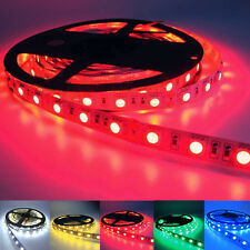 5M 16.4FT 5050 SMD LED Strip Lights Lamps White Red Green Blue Waterproof 12V