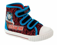 BOYS THOMAS THE TANK ENGINE HI TOP TRAINERS BASEBALL BOOTS SHOES UK SIZE 5-10