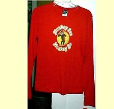 new CURIOUS GEORGE monkey see do t shirt jr cut LONG slv   M in navy   L in red