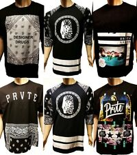 authentic Private Label Tyga Last Kings T-shirt Bandana Raglan Baseball Tee