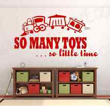 So Many Toys So little Time Vinyl Wall Decal Wall Sticker Bedroom