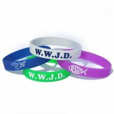 WWJD Silicone Wristband x1 - What Would Jesus Do religion Church Bracelet
