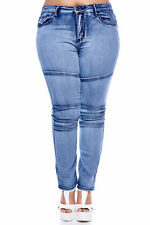Womens Ladies Plus Size fashion skinny/slim cut free shipping acid black comfy