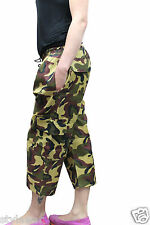 New Ladies Army 3/4 Trousers Camouflage 3 Quarter trouser Uk Size 8-16 Free P&P