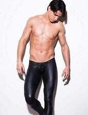 Fashion Man comfortable sex appeal toning patent  leather  Pants black  trousers