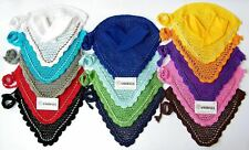 FLY VEIL HORSE EAR NET CROCHET EQUESTRIAN WITH PIPING 14 COLORS FULL, COB, PONY