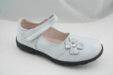 Luna Shoes Brand New Girls' White Patent Leather Flower Mary Jane Size 12-5